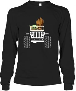 Baby Yoda and Baby Groot Jeep Long sleeve