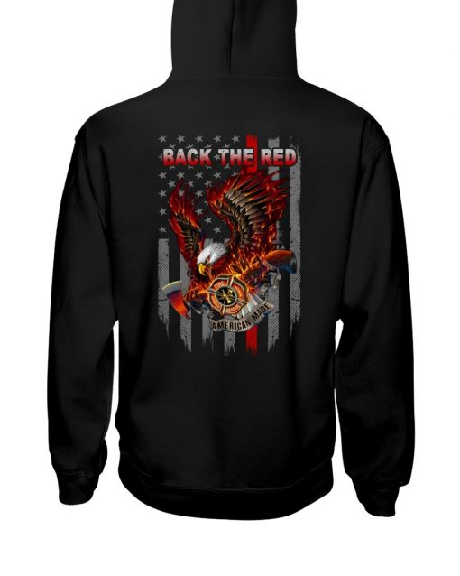 Back the Red Eagle Firefighter Hoodie