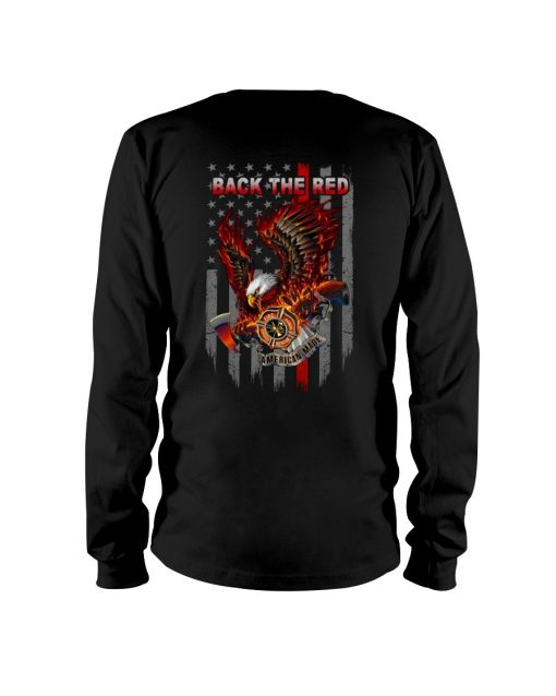 Back the Red Eagle Firefighter Long sleeve