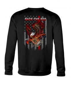 Back the Red Eagle Firefighter Sweatshirt