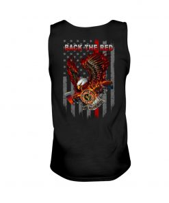 Back the Red Eagle Firefighter Tank top