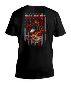 Back the Red Eagle Firefighter V-neck