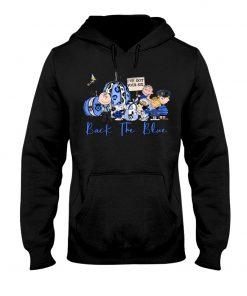 Back the blue Snoopy The Peanuts Pumpkin hoodie