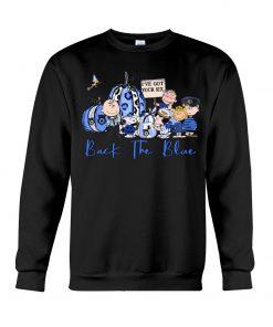 Back the blue Snoopy The Peanuts Pumpkin sweatshirt