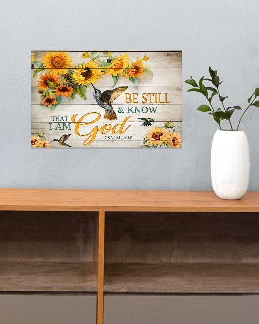 Be still and know that I am God Sunflower poster 1
