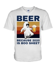 Beer Because 2020 Is Boo Sheet v-neck