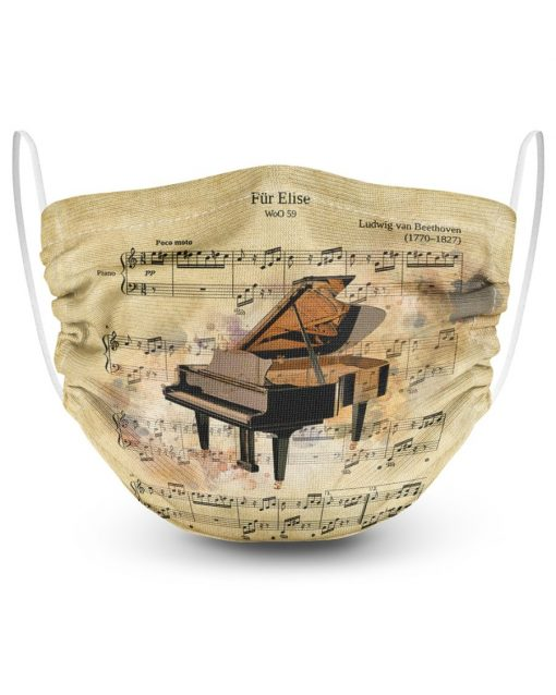 Beethoven - Für Elise face mask