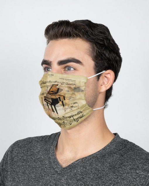 Beethoven - Für Elise face mask3