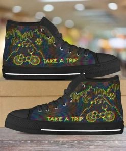 Bicycle Day Take A Trip High Top Shoes