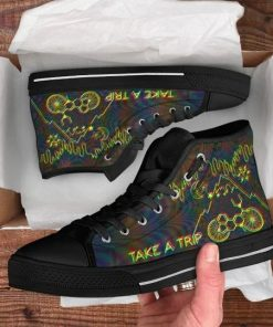 Bicycle Day Take A Trip High Top Shoes1