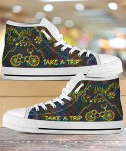Bicycle Day Take A Trip High Top Shoes5