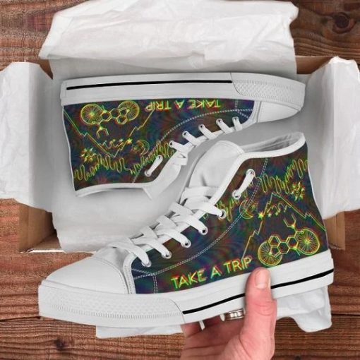 Bicycle Day Take A Trip High Top Shoes6