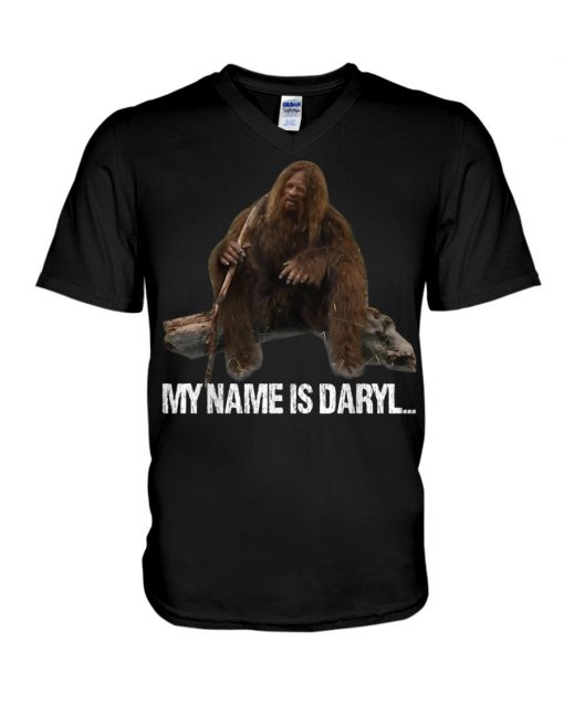Bigfoot My Name Is Daryl v-neck