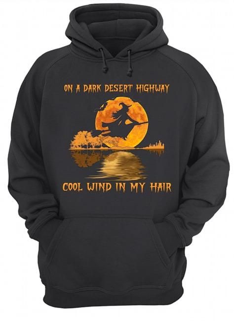 Biker On a dark desert highway cool wind in my hair Hoodie
