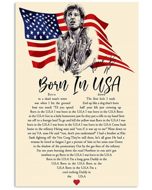 Bruce Springsteen - Born in the U.S.A. lyrics poster 1