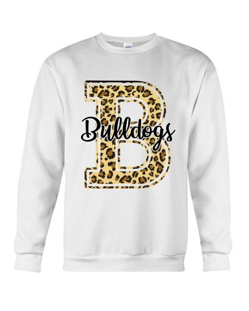 Bulldogs School Mascot Leopard Skin Sweatshirt