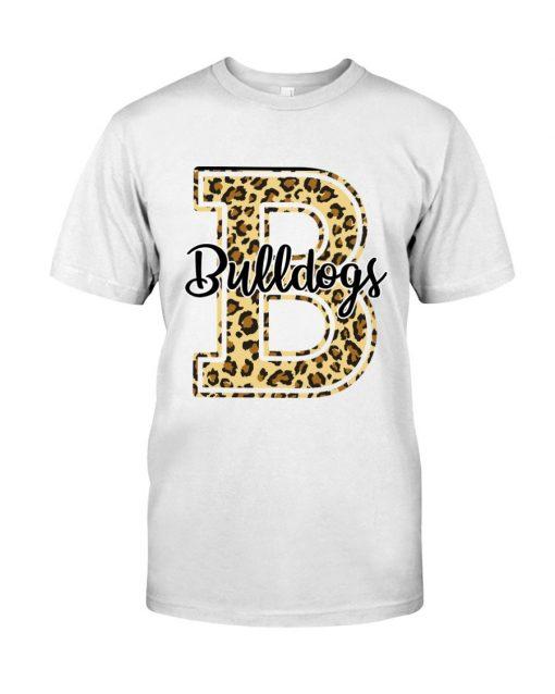 Bulldogs School Mascot Leopard Skin T-shirt