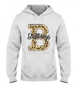 Bulldogs School Mascot Leopard Skin hoodie