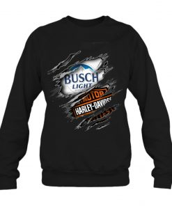 Busch Light Harley Davidson Motorcycles long sleeve
