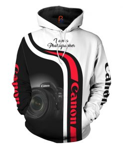Canon I Am A Photographer 3D All Over Printed Hoodie