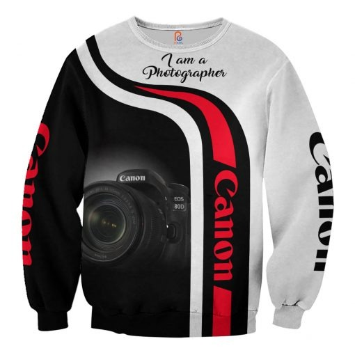 Canon I Am A Photographer 3D All Over Printed sweatshirt