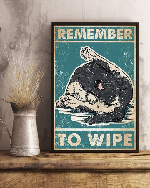 Cat Remember to Wipe poster2