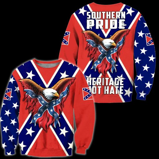 Confederate States of America 3D All Over Printed sweatshirt