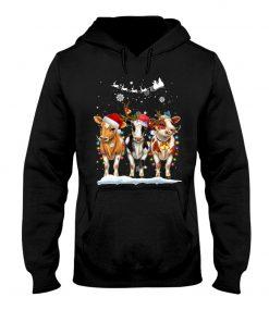 Cow Christmas Hoodie