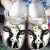 Cow Flowers Crocs Crocband Clog