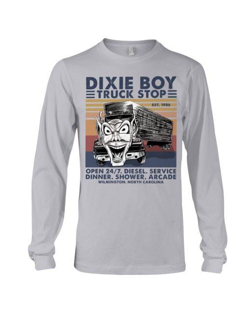Dixie Boy Truck stop open 24 7 diesel service dinner shower arcade Long sleeve