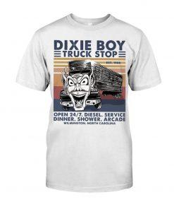 Dixie Boy Truck stop open 24 7 diesel service dinner shower arcade T-shirt
