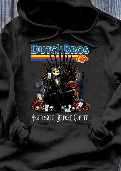 Dutch Bros Nightmare before coffee Jack Skellington King shirt
