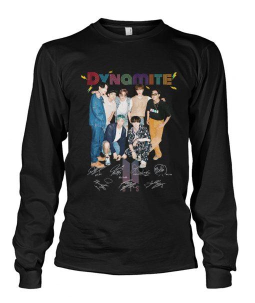 Dynamite BTS signatures Long sleeve