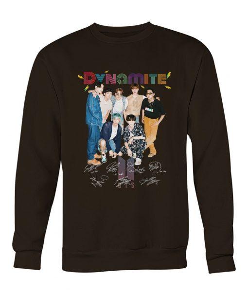 Dynamite BTS signatures Sweatshirt