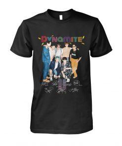Dynamite BTS signatures T-shirt