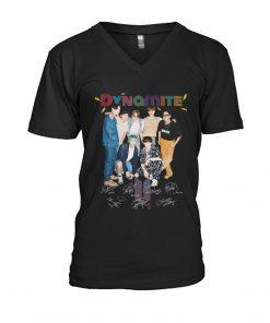 Dynamite BTS signatures V-neck