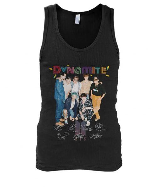 Dynamite BTS signatures tank top