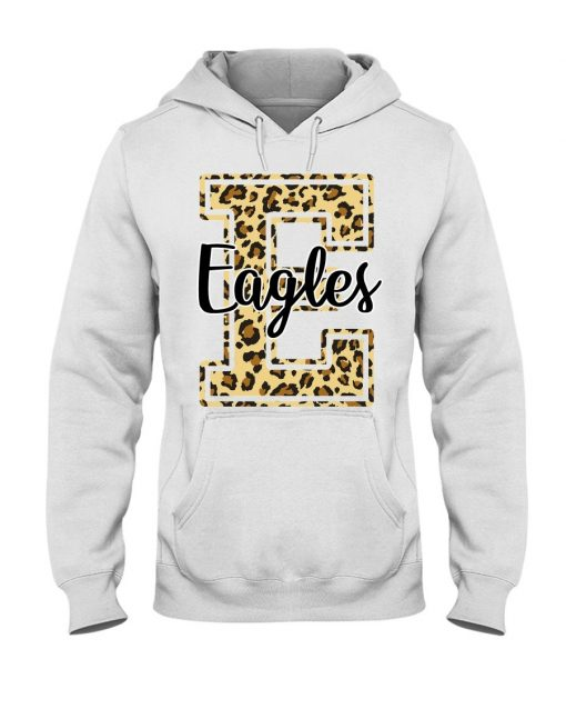 Eagles School Mascot Leopard Skin Hoodie