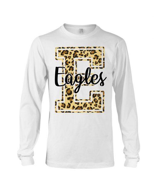 Eagles School Mascot Leopard Skin Long sleeve
