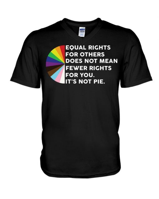 Equal Rights For Others Does Not Mean Fewer Rights For You It's Not Pie V-neck