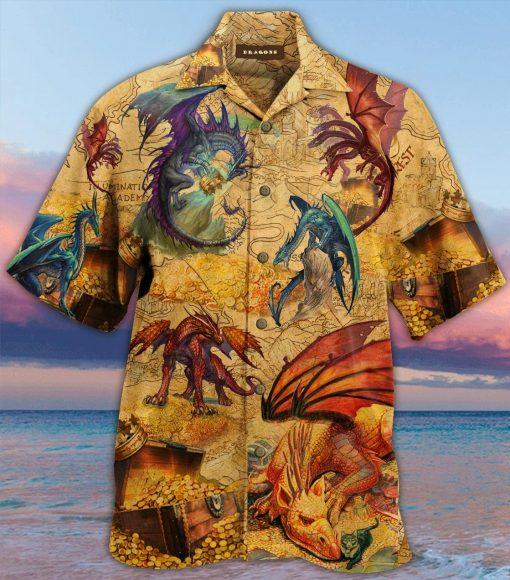 Every treasure is guarded by dragons Hawaiian Shirt