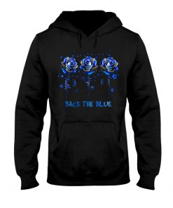 Faith Hope Love Back the blue roses Hoodie