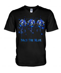 Faith Hope Love Back the blue roses V-neck