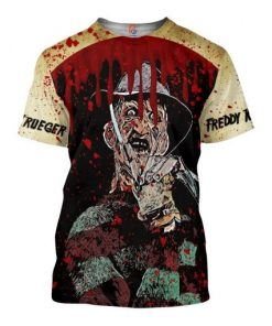 Freddy Krueger 3D All Over Printed shirt
