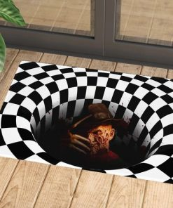 Freddy Krueger Illusion 3D Hole Doormat 1