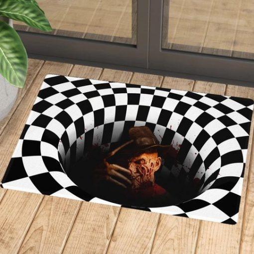 Freddy Krueger Illusion 3D Hole Doormat 1