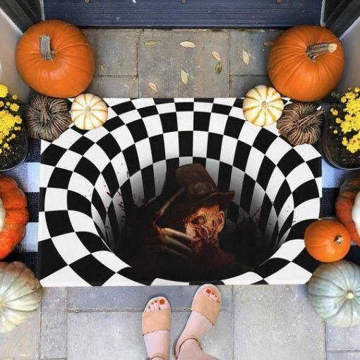 Freddy Krueger Illusion 3D Hole Doormat 2