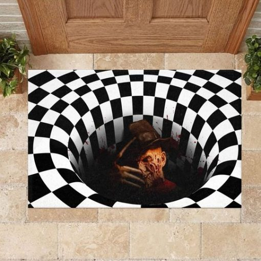 Freddy Krueger Illusion 3D Hole Doormat 3