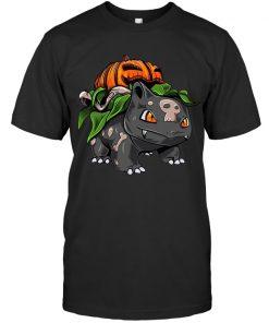 Fushigidane Bulbasaur Pumpkin Halloween T-shirt