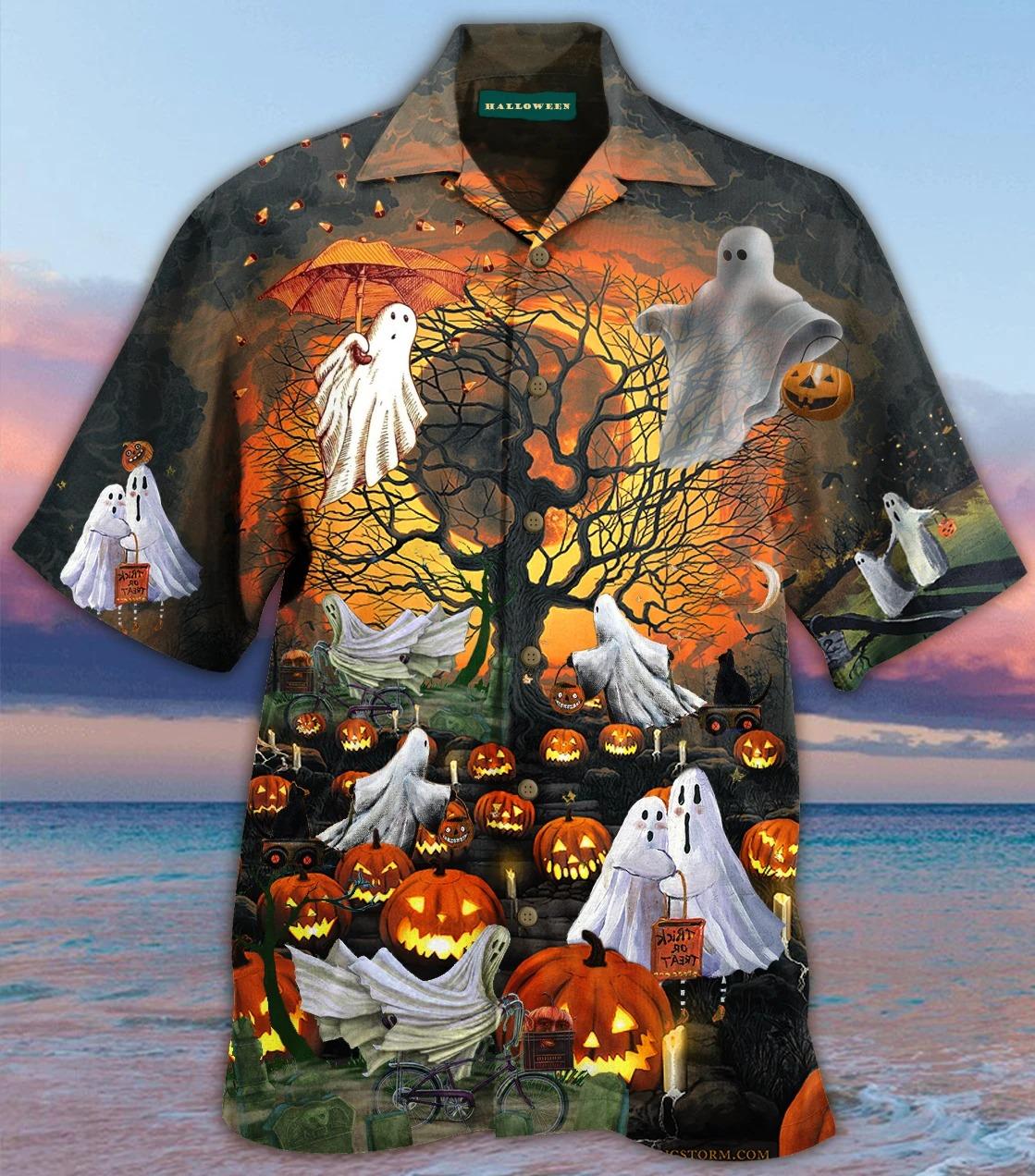 Wonderful Ghosts Halloween Hawaiian Shirt